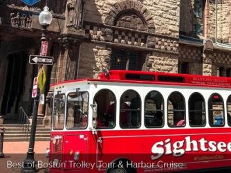 Best of Boston Trolley Tour & Harbor Cruise $40